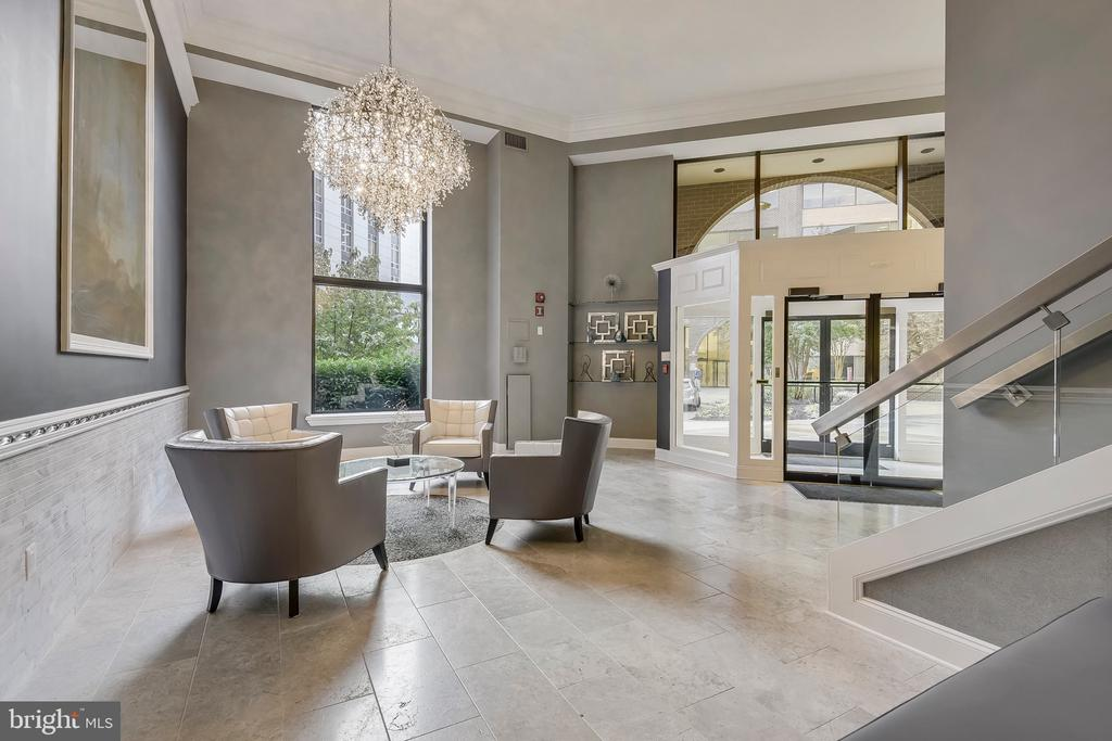 Bright, Open Lobby to Welcome You Home - 2111 WISCONSIN AVE NW #PH7, WASHINGTON