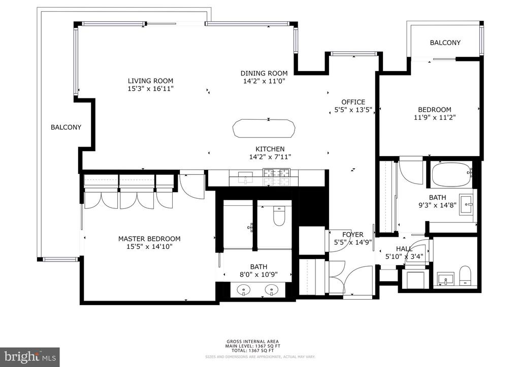 Floor Plan - 920 I ST NW #811, WASHINGTON