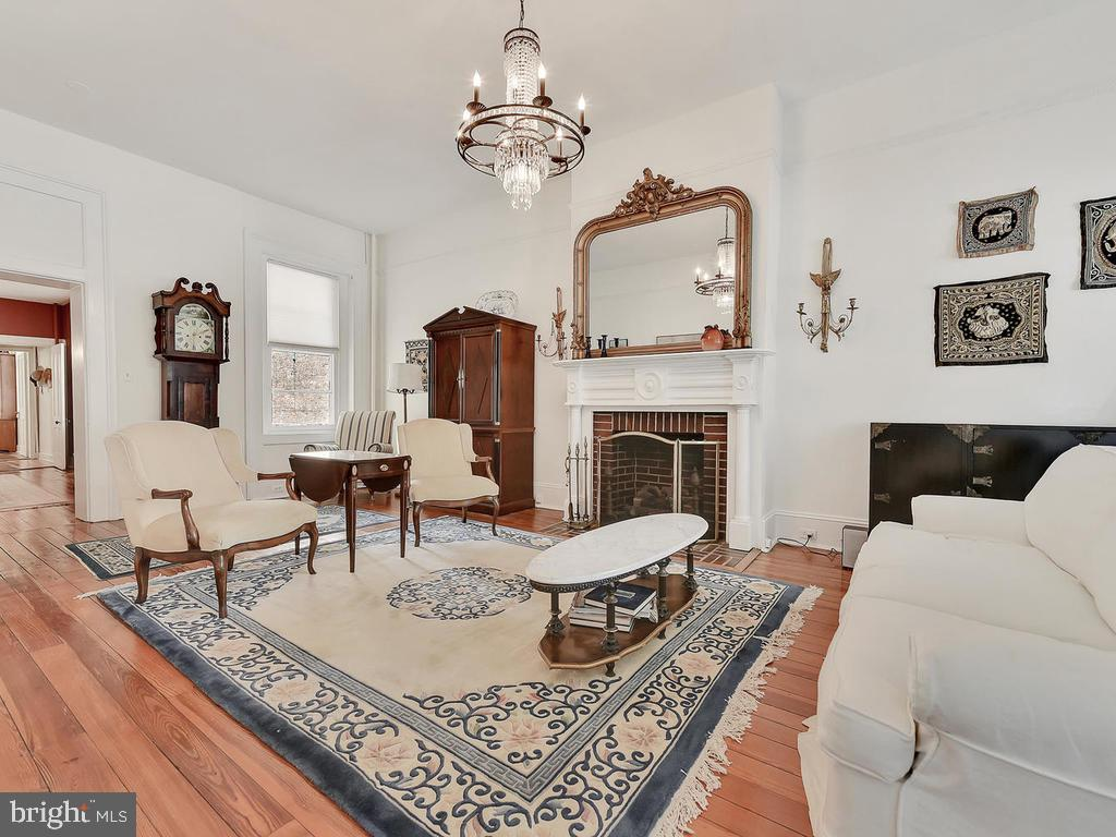 Gas fireplace for  warmth and ambiance - 121 W 2ND ST, FREDERICK