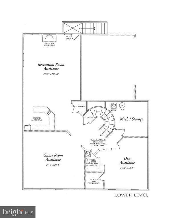 Lower Level Floor Plan - Barber Carpet - 2976 TROUSSEAU LN, OAKTON