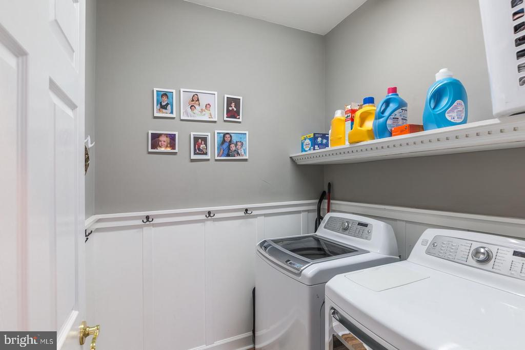 Convenient laundry room on Main Level - 20226 BROAD RUN DR, STERLING