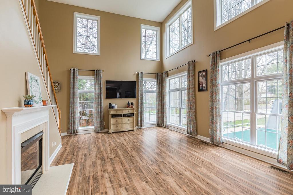 Family room overlooks the pool - 20226 BROAD RUN DR, STERLING