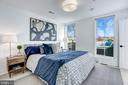 Master Bedroom with Access to Roof Deck - 1710 10TH ST NW #2, WASHINGTON