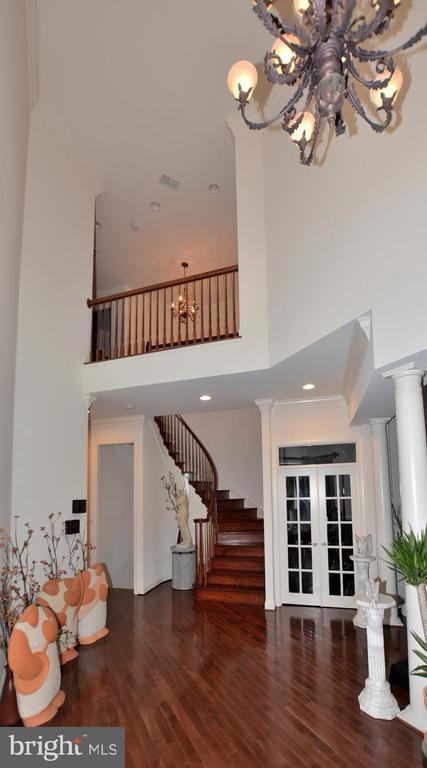Two Story Foyer with 10 Ft Ceilings - 2976 TROUSSEAU LN, OAKTON
