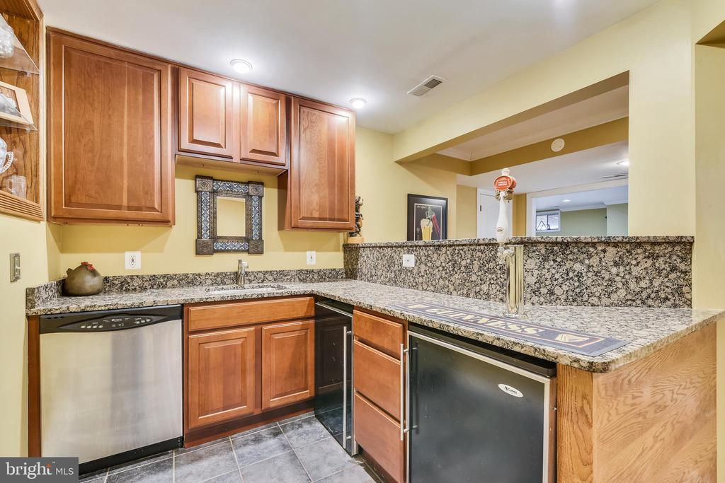 Lower Level full Bar/Kitchen - 47774 BRAWNER PL, STERLING