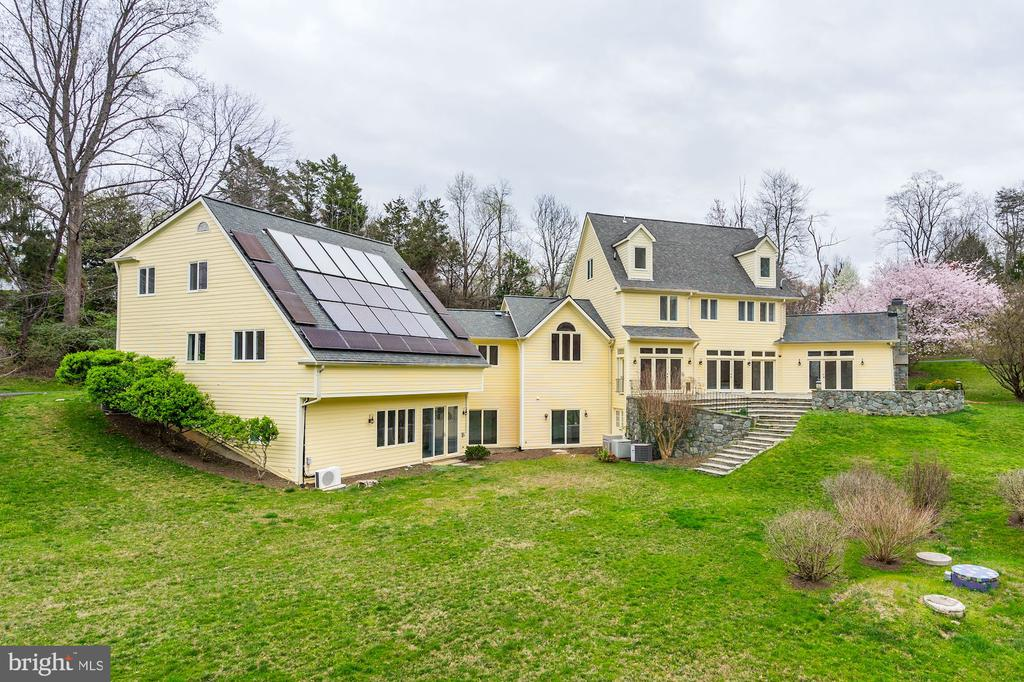 Exterior Rear - Solar Panel System - 1312 MERCHANT LN, MCLEAN