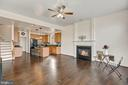 Relax w/ gas fireplace in family off deck. - 43988 RIVERPOINT DR, LEESBURG