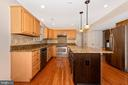 Spacious kitchen with stainless appliances - 2505 UNDERWOOD LN, ADAMSTOWN