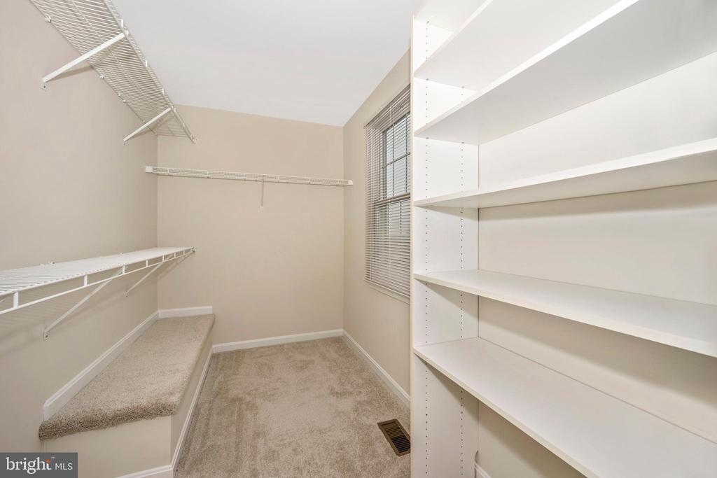 Master bedroom walk-in closet - 2505 UNDERWOOD LN, ADAMSTOWN