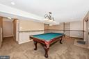 Lower level family room with walkout to patio - 2505 UNDERWOOD LN, ADAMSTOWN