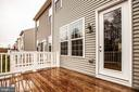 Access deck from the kitchen sitting area - 8900 ENGLEWOOD FARMS DR, MANASSAS