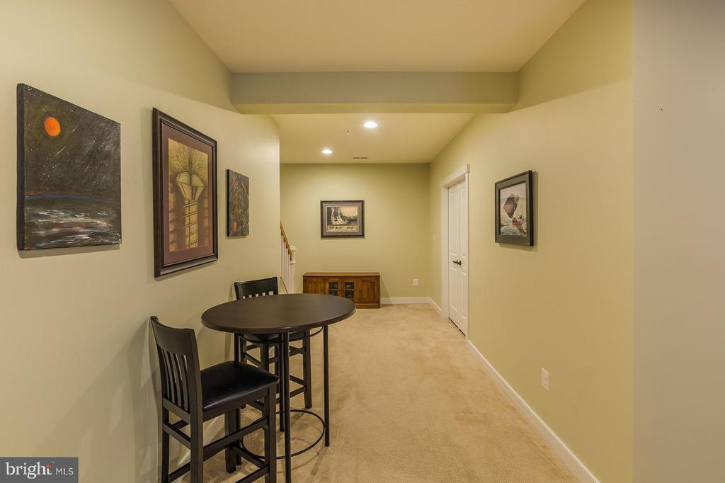 Lets look at the finished basement - 17109 GULLWING DR, DUMFRIES