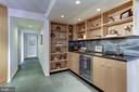 Wet Bar with shelving - 1015 33RD ST NW #702, WASHINGTON