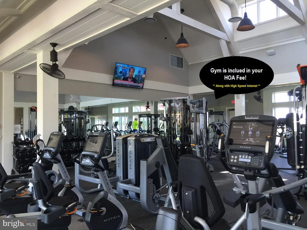 The gym and high speed internet is included in HOA - 17109 GULLWING DR, DUMFRIES