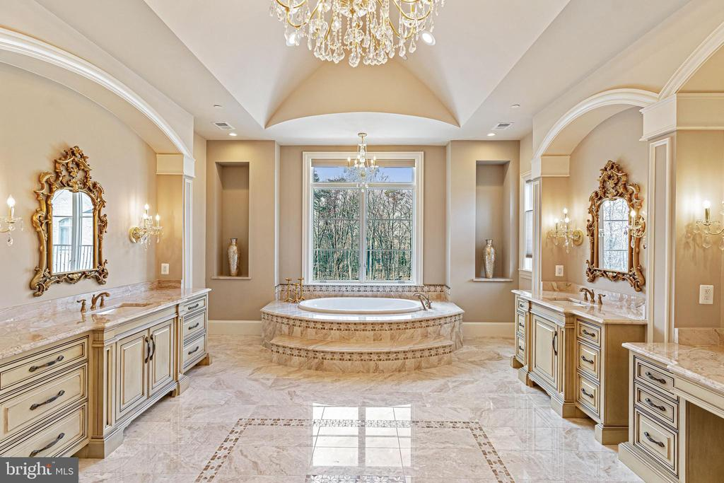 Sumptuous Owner's Spa Bathroom - 11345 ALBERMYRTLE RD, POTOMAC