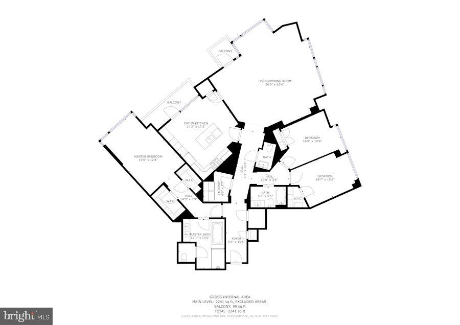 Floor Plan - 7171 WOODMONT AVE #301, BETHESDA