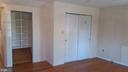 Bedroom has wood floors, two closets. - 239 W MARKET ST, LEESBURG