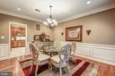 Dining Room feat. Upgraded Moldings & Chandelier - 20024 VALHALLA SQ, ASHBURN