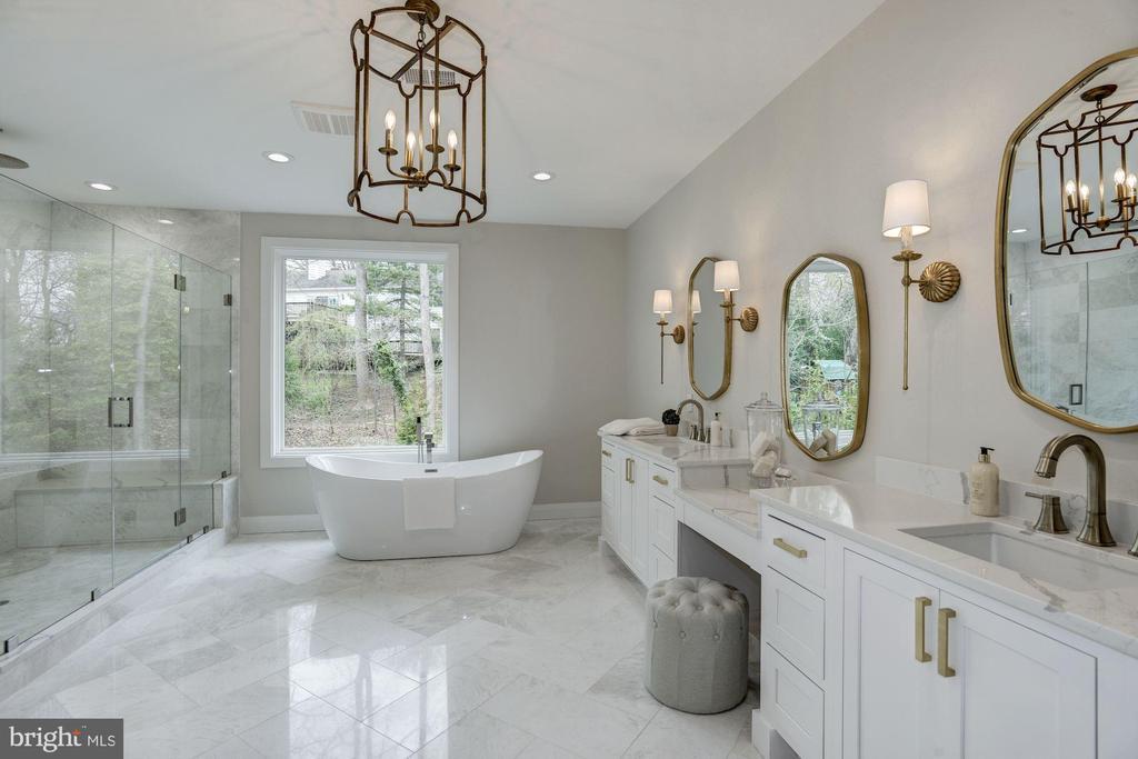 Elegant Master Bathroom with designer fixutres - 1916 RHODE ISLAND AVE, MCLEAN