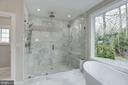 Shower with glass doors - 1916 RHODE ISLAND AVE, MCLEAN