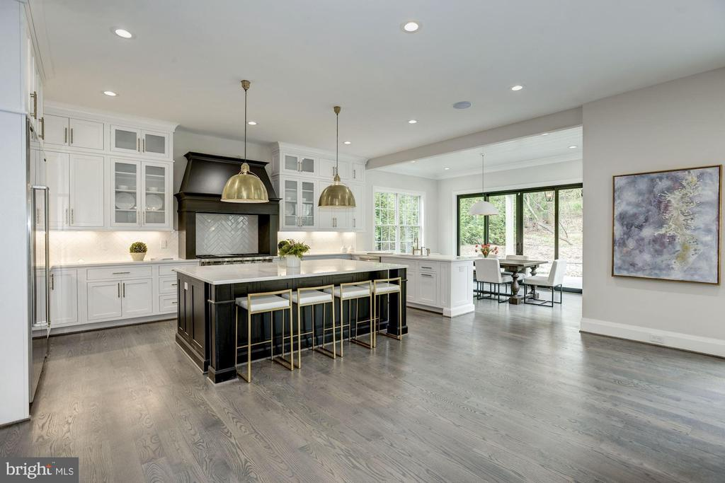 Stunning Gourmet Kitchen with quartz counters - 1916 RHODE ISLAND AVE, MCLEAN