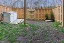 fenced rear yard - 42424 DOGWOOD GLEN SQ, STERLING