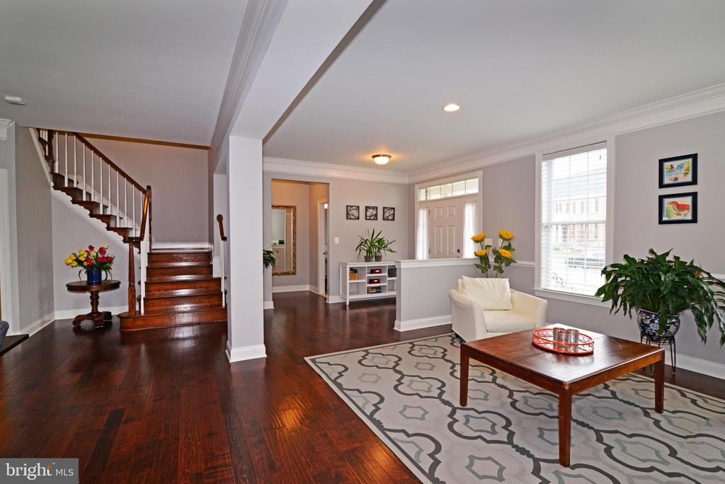 View of Living Room with Hardwood Floors - 22988 CHERTSEY ST, ASHBURN