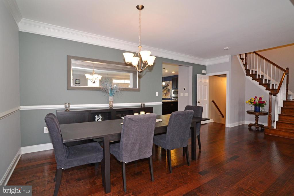 Dinning Area with Large Table Sits 6-8 - 22988 CHERTSEY ST, ASHBURN