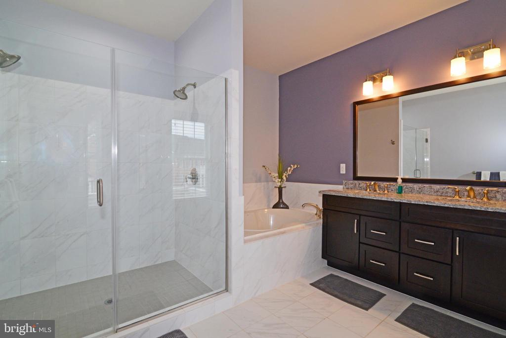 Beautifully Tiled Master Bathroom - 22988 CHERTSEY ST, ASHBURN