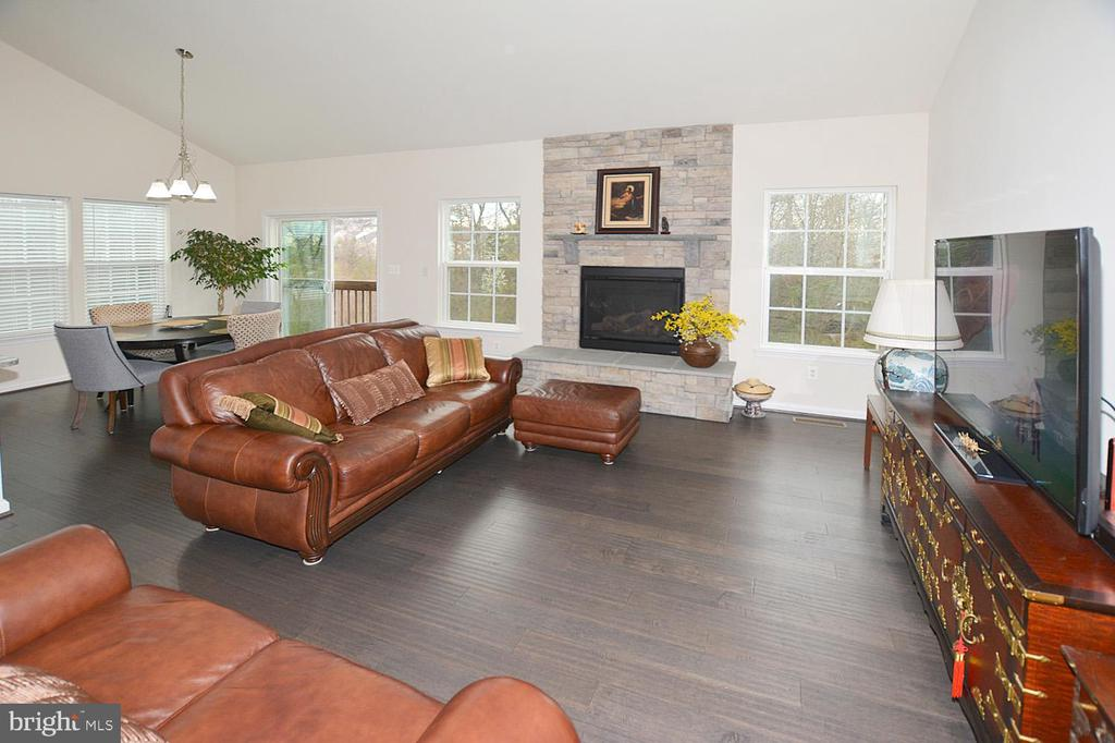 Living room with fireplace - 25693 ARBORSHADE PASS PL, ALDIE