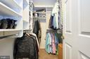 Mastre Bedroom Walk In Closet - 13356 GLEN TAYLOR LN, HERNDON