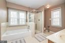 Mastr Bath with Soaking Tub and  Shower - 13356 GLEN TAYLOR LN, HERNDON