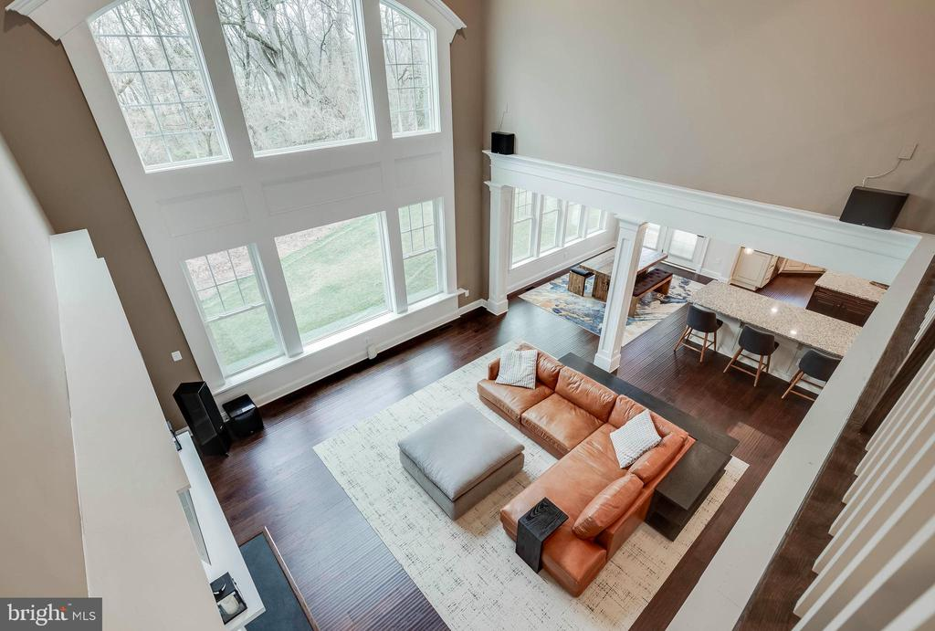 Aerial View of Two Story Great Room - 23219 LUNAR HARVEST LN, ALDIE