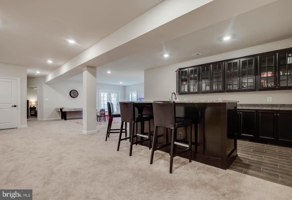 Basement Rec Room w/Granite Countertop Bar - 23219 LUNAR HARVEST LN, ALDIE