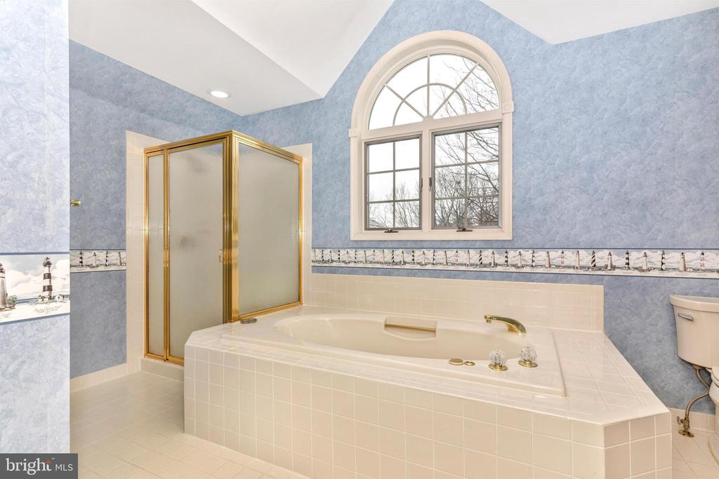 Master bath has separate jetted tub and shower. - 7799 COBLENTZ RD, MIDDLETOWN