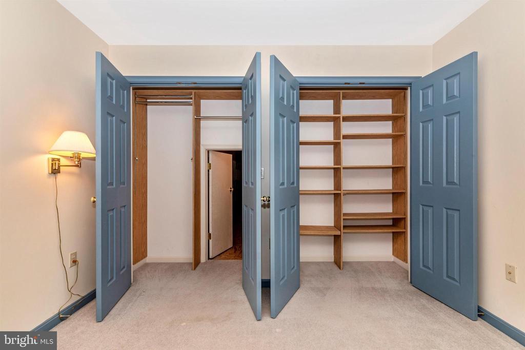 Huge attic storage space behind bedroom 2's closet - 7799 COBLENTZ RD, MIDDLETOWN