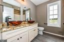 Tiled hall bathroom w/double bowls and tub/shower - 4802 COWMANS CT NORTH, MOUNT AIRY