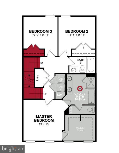Third Level Floor Plan - 1599 MEADOWLARK GLEN RD, DUMFRIES