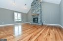Natural Gas Fireplace with stone raised hearth - 4802 COWMANS CT NORTH, MOUNT AIRY