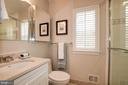 Hall bath upstairs - 6804 BROXBURN DR, BETHESDA