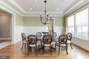 Formal Dining Room with Custom Window Treatments - 2330 N VERMONT ST, ARLINGTON