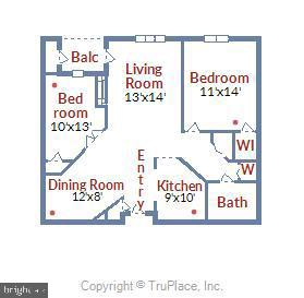 Floorplan - 1321 N ADAMS CT #308, ARLINGTON