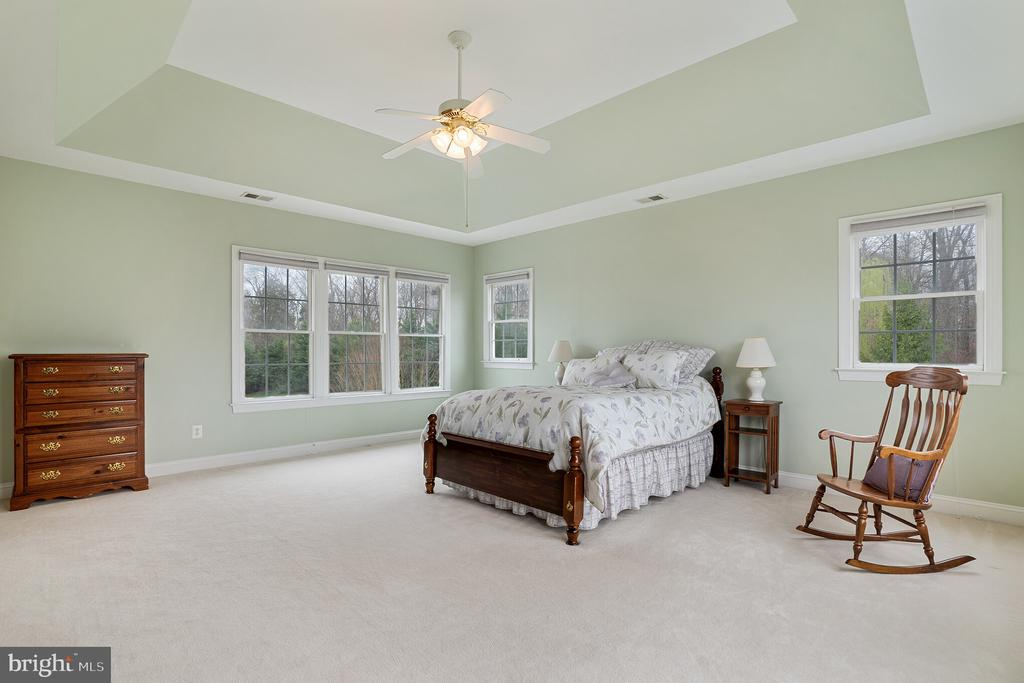Very large master bedroom with tray ceiling - 25543 THORNBURG CT, CHANTILLY
