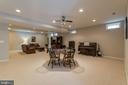 Exceptionally large finished area in the basement - 25543 THORNBURG CT, CHANTILLY