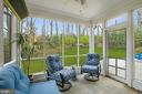 Fabulous screened porch - 6804 BROXBURN DR, BETHESDA