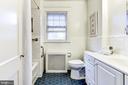 Hall bath - 3715 BRADLEY LN, CHEVY CHASE