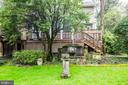 Rear deck to garden - 3715 BRADLEY LN, CHEVY CHASE