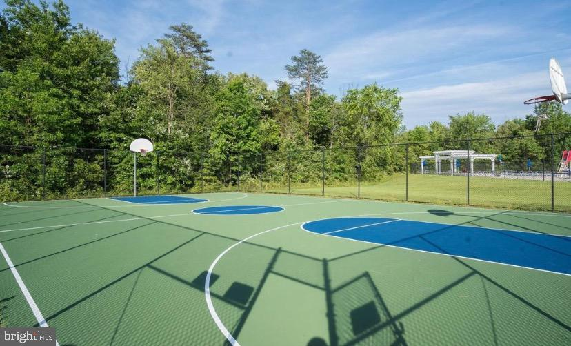 Hoops court is right there - 25543 THORNBURG CT, CHANTILLY