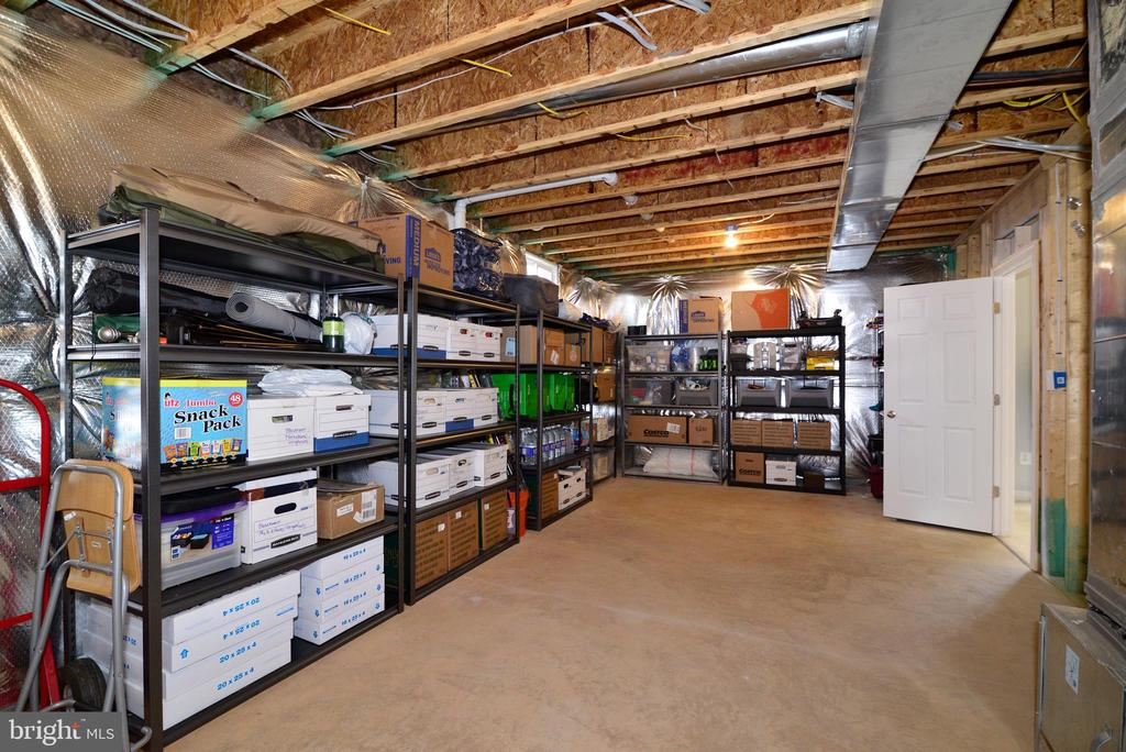 Ample storage in basement - 55 STONE OAK PL, ROUND HILL