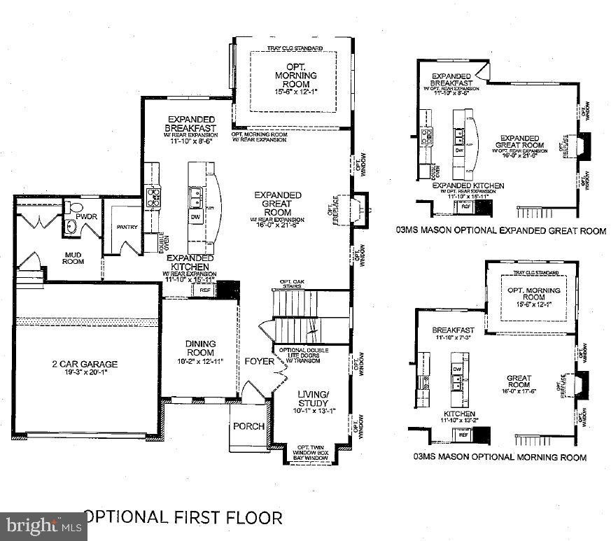 Main Lvl Floorplan w/ Optional Expanded Great Room - 23578 PROSPERITY RIDGE PL, BRAMBLETON